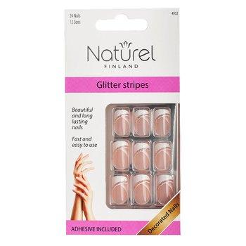 NATUREL Lösnaglar, Glitter Stripes