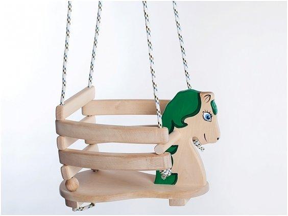 Bra Lille Katt - Babygunga i trä 'grön' RH-45