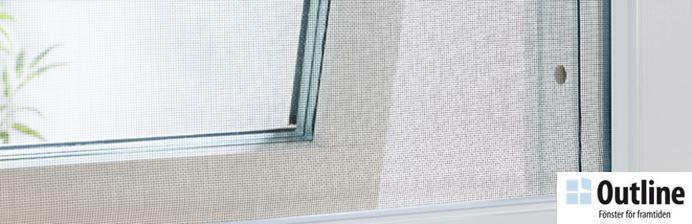 Fräscha Myggnät till utåtgående fönster - OnlineByggvaror GW-27