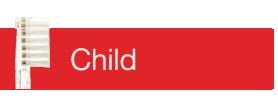 Bortshuvud 4 - pack Child