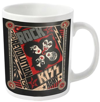 KISS - MUG, REVOLUTION (WHITE)