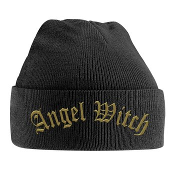 ANGEL WITCH - KNITTED SKI HAT, GOLD LOGO (EMBROIDERED)