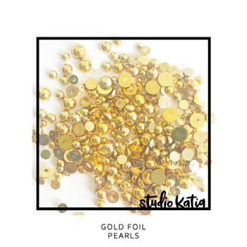 STUDIO KATIA-GOLD FOIL PEARLS