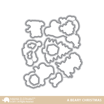 MAMA ELEPHANT -A BEARY CHRISTMAS - CREATIVE CUTS