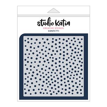STUDIO KATIA-CONFETTI STENCIL