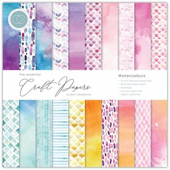 CRAFT CONSORTIUM-Essential Craft Papers 6x6 Inch Paper Pad Watercolours