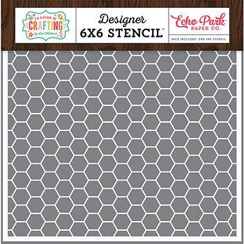 ECHO PARK -  6x6 Inch Stencil- honeycomb