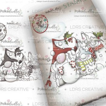 Polkadoodles -Snow Gnomes Clear  Stamp