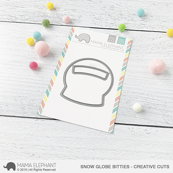 MAMA ELEPHANT-SNOW GLOBE BITTIES CREATIVE CUTS
