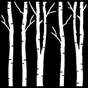 CREATIVE EXPRESSIONS-Mask Birch Trees