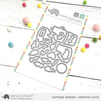 MAMA ELEPHANT  -CUPCAKE WISHES - CREATIVE CUTS