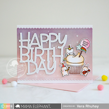 MAMA ELEPHANT  -CUPCAKE WISHES