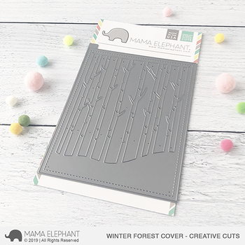 MAMA ELEPHANT-WINTER FOREST COVER - CREATIVE CUTS