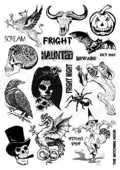 CREATIVE EXPRESSIONS-Mixed Media Transfers by Andy Skinner Horror