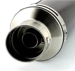 Downswept exhaust Zero Rose style carbon