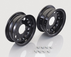 "8"" Kitaco alloy rim set 8hole design Black"