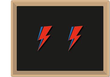 Örhänge David Bowie Flash