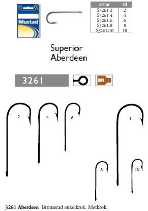 Aberdeen superior bronzed singelhook