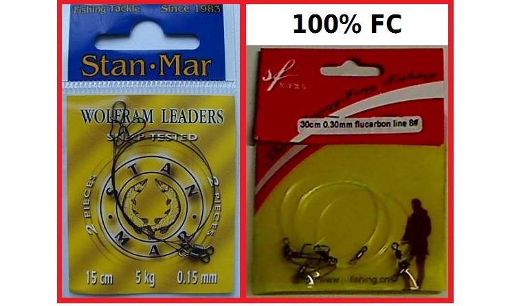 Specialtafsar för lätt jiggfiske (FC och wolfram)