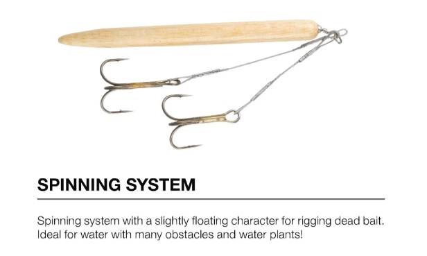 D.A.M Spinsystem deadbait rig