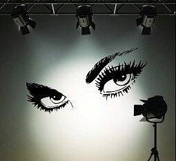 Väggdekor -Ögon 65 x 115 cm, svart dekor