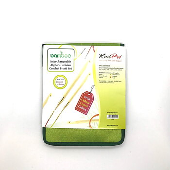 Set Bamboo Interchangable Tunisian Crochet hooks