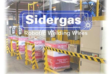 Sidergas robotsvetstråd