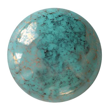 Cabochon par Puca® - Opaque Green Turquoise Bronze 18 mm, 1 styck