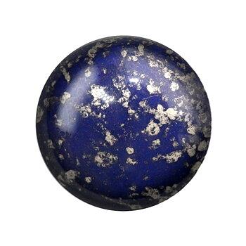 Cabochon par Puca® - Opaque Dark Sapphire Silver 18 mm, 1 styck