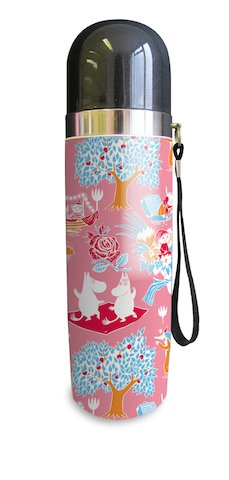 Moomin thermos flask, retro pink