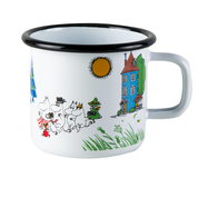 Moominvalley, Colors enamel mug 3,7 dl white