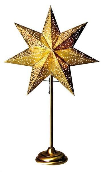 Antique stjärna på fot 34, guld