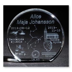 3D-kristall Stjärnhimmel - 10,5 cm