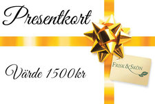 Presentkort på valfri behandling eller produkter Värde 1500:-