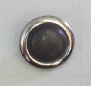 Metallknapp  1783 oxid/silver 19mm