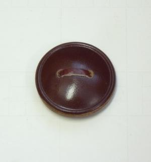Läderknapp 5 32mm Brun
