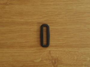 Fyrkantsring Svart 40mm