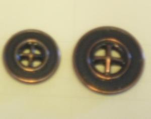 Metallknapp 4-hål