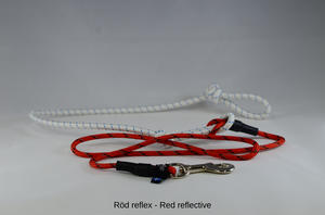 LÖPARLINA i Reflex med expander, 1-hund. Silverfärgad pistolkarbinhake