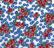 Lecien Röda och Blå Blommor