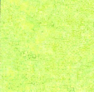 Batik Fyrkanter Lime