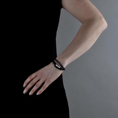 Armband Trippel med Kvadrat - Bildsmycke