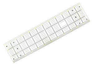 Linjal för quiltning 60x16cm