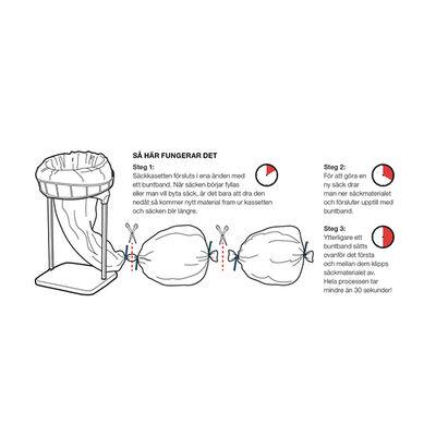 Longopac Buntband Midi Vit /100