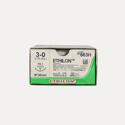 Ethilon II 663H svart 3/0  omvänt skärande nål FS-1 45cm /36