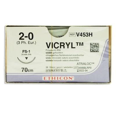 Vicryl V453H lila 2/0 omvänt skärande nål FS-1 70 cm /36