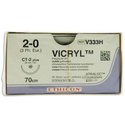 Vicryl V333H lila 2/0 taperpoint nål CT-2 70 cm /36
