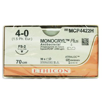 Monocryl Plus MCP4422H ofärgad 4/0 omvänt skärande nål FS-2 70 cm /36