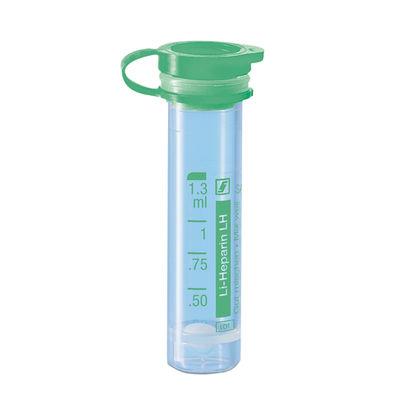 Preparerade Mikrorör med snäpplock gröna Li-Hep 1,3 ml /100