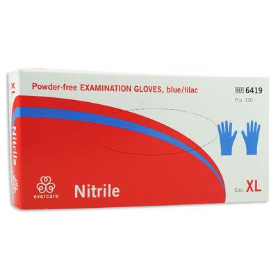 Nitril blå/lila undersökningshandske puderfri tunn XL /150